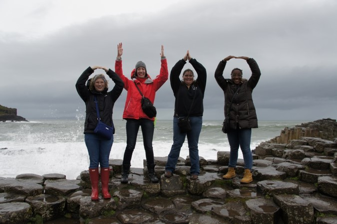 O-H-I-O Student Picture on Global Education Trip