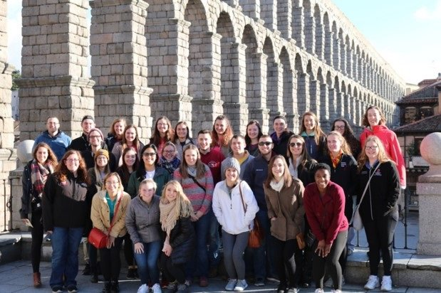 Students on HAI Global Education trip in Spain