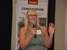 Suzi speaking at CHAIRE's 2018 Annual Fundraiser